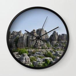 El Torcal de Antequera | Natural Park photography | karst landscape Wall Clock