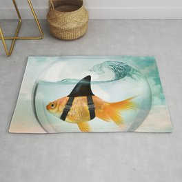 Goldfish with a Shark Fin 19 Rug