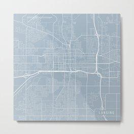Lansing Map, USA - Slate Metal Print