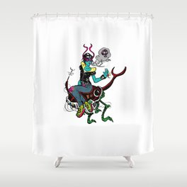 Bug Rider Shower Curtain