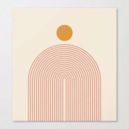 Abstraction_SUN_LINES_VISUAL_ART_Minimalism_001 Canvas Print