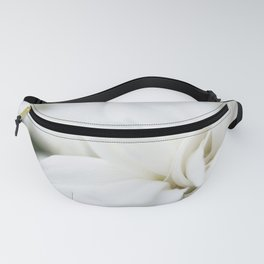 Snow White Flowers on a Dark Background #decor #society6 #buyart Fanny Pack