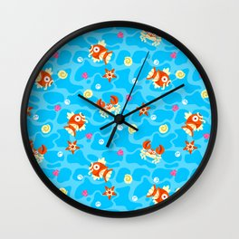 Bubble Beach Wall Clock