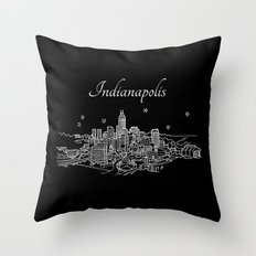 Indianapolis, Indiana City Skyline Throw Pillow