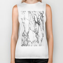 Classic White Marble #1 #decor #art #society6 Biker Tank