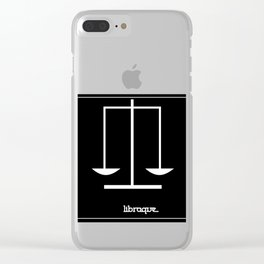 Libra ~ Libraque ~ Zodiac series Clear iPhone Case