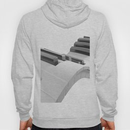 Keyboard of a piano waving on white background - 3D rendering Hoody