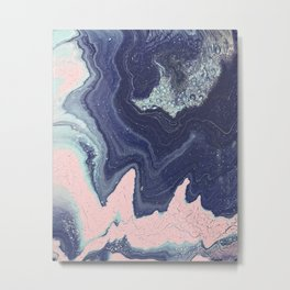 Fluid No. 11 - Geode Metal Print