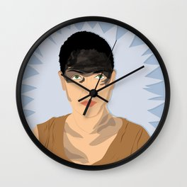 Furiosa (Blue) | Bad Ass Women Series Wall Clock