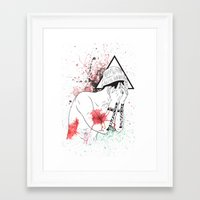 hipster Framed Art Prints featuring Hipster by ArDem