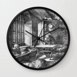 Saint Jerome in His Study by Albrecht Dürer Wall Clock