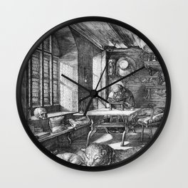 Saint Jerome in His Study by Albrecht Dürer Wall Clock