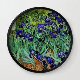 Van Gogh Purple Irises at St. Remy Wall Clock