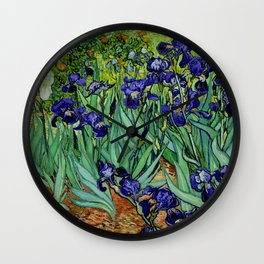 Van Gogh Purple Irises at St. Remy Wall Clock