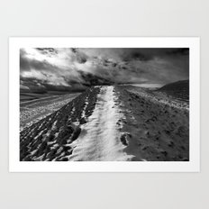 Snow Path Art Print