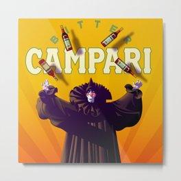 Vintage Cordial Bitter Campari 'Pagliacci' Advertisement Poster Metal Print