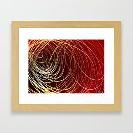 Complex Swirl-Golden Red Framed Art Print