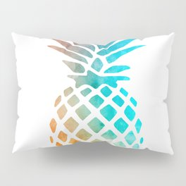 Watercolor Pineapple Pillow Sham