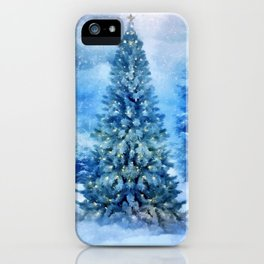 Christmas tree scene iPhone Case