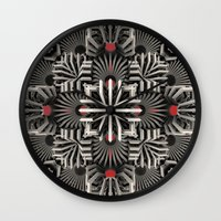 cyberpunk Wall Clocks featuring Calaabachti Matrix by Obvious Warrior