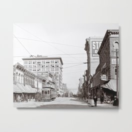 The Streets Of Birmingham Alabama - Vintage Americana Metal Print