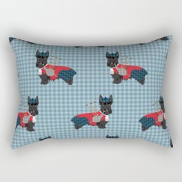 Scottish Terrier dog breed custom pet portrait funny dog pattern dog gifts all breeds Rectangular Pillow