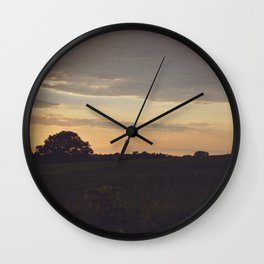 Deer at Sunset Wall Clock