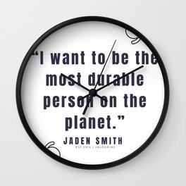 47   |  Jaden Smith Quotes | 190904 Wall Clock