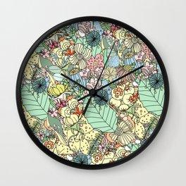 Nature Bloom Pattern Wall Clock