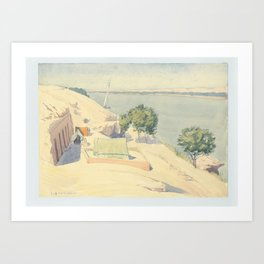 Caminos' Camp at Gebel el-Silsila, 1959 Art Print