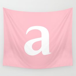 a (WHITE & PINK LETTERS) Wall Tapestry