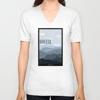 travel poster V-neck T-shirts featuring Hoth Travel Poster by Tawd86