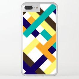 "Geometric Print ""Broken Weave"" Clear iPhone Case"