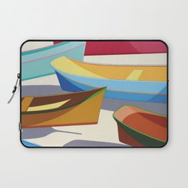 COLORED BOATS Laptop Sleeve
