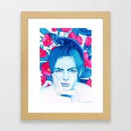 Tropical portrait Framed Art Print
