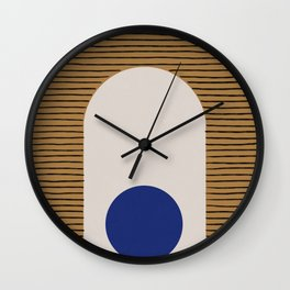 Blue Circle #1 Wall Clock