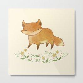 Organic Fox Metal Print