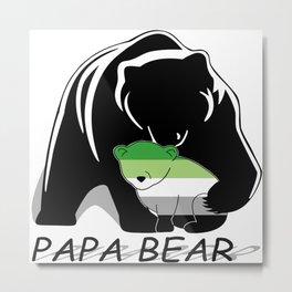 Papa Bear Aromantic Metal Print