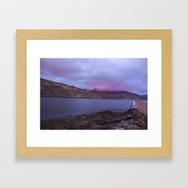 Sunset in Leenane Killary Framed Art Print