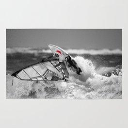 surf santa - wind surf Rug