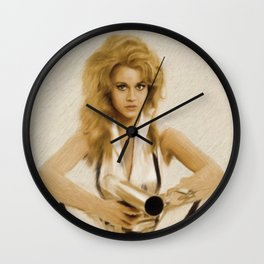 Jane Fonda, Barbarella Wall Clock