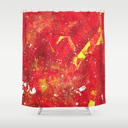 Red Fumes Shower Curtain