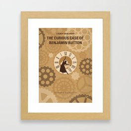 No1068 My Curious Case of Benjamin Button minimal movie poster Framed Art Print