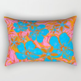 Vintage Hawaiian Absract Painted Junge Print Rectangular Pillow