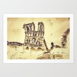 Cathedrale Notre-Dame Art Print
