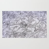 tree rings Area & Throw Rugs featuring Abstract Tree Rings by nikart