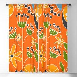 Sunny floral decor Blackout Curtain