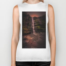 Tintagel beach waterfall Biker Tank