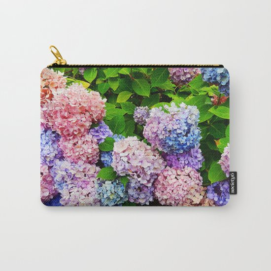 Rainbow of Flowers Carry-All Pouch