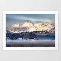 Langdale dawn Art Print